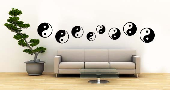 Yin Yang Pack wall decals