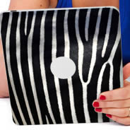 Zebra iPad tablet skin