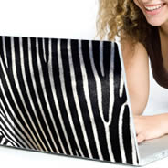 Zebra skins laptop decal