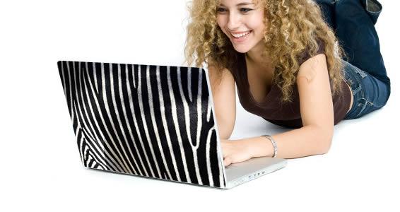 Zebra laptop decals skin