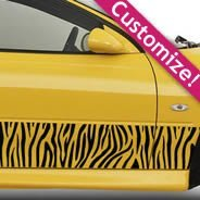 Zebra Strips car decal