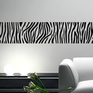Zebra Strips vinyl wall borders