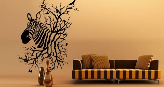 Zebra Jungle wall decals