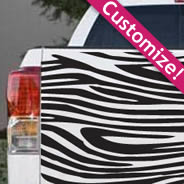 Zebra car decal