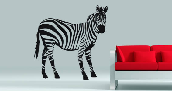 Amazing Zebra Wall Decals