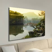 Japanese Garden photo on canvas