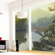 Japanese Garden see through  window decals