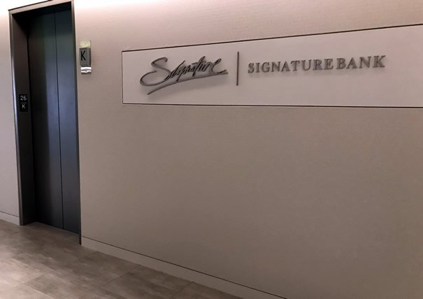 Custom 3D logo sign for San Francisco Bank