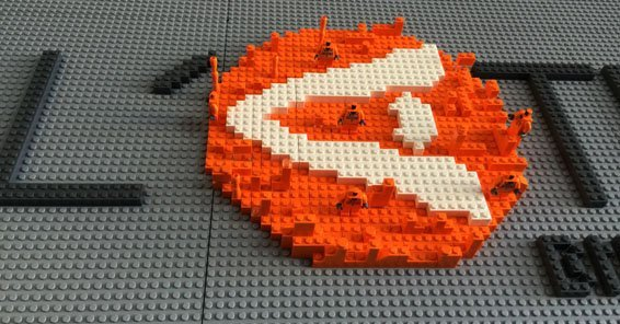 Logo made with Lego pieces