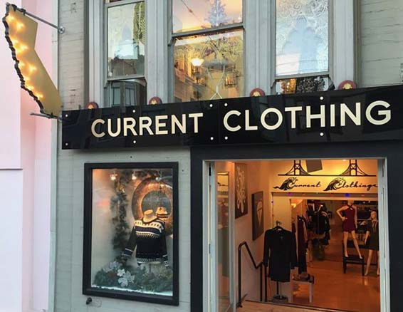 Current Clothing 3D storefront signs