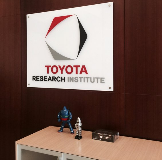 3D logo acrylic sign for Toyota
