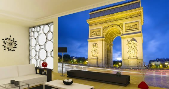 Arc de triomphe reusable wall mural