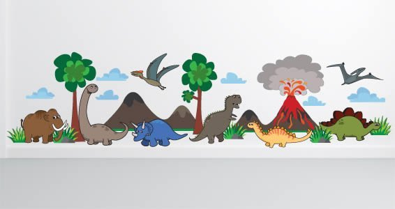 dino wall appliques