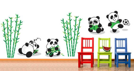 pandas removable wall decals