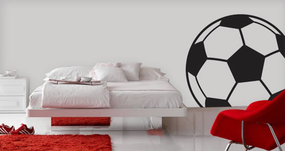 soccer ball wall decal