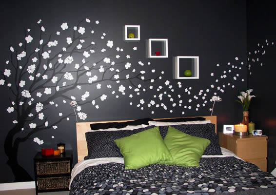 Spring tree decal for wall