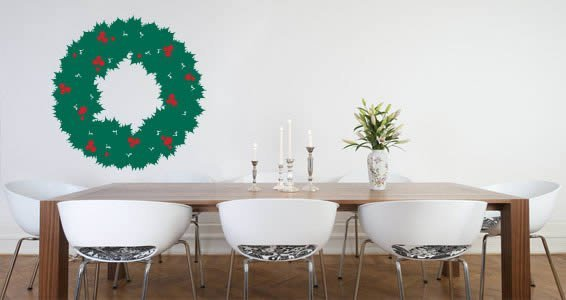 Christmas wreath decal